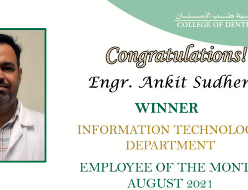 Congratulation Engr. Ankit Sudhera for Employee of the Month (COD-IT) August 2021